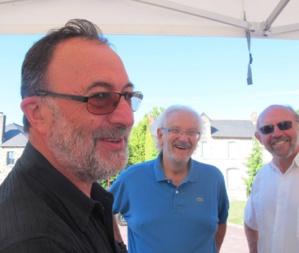 Alain et Michel, avec le maire, Maurice Renault