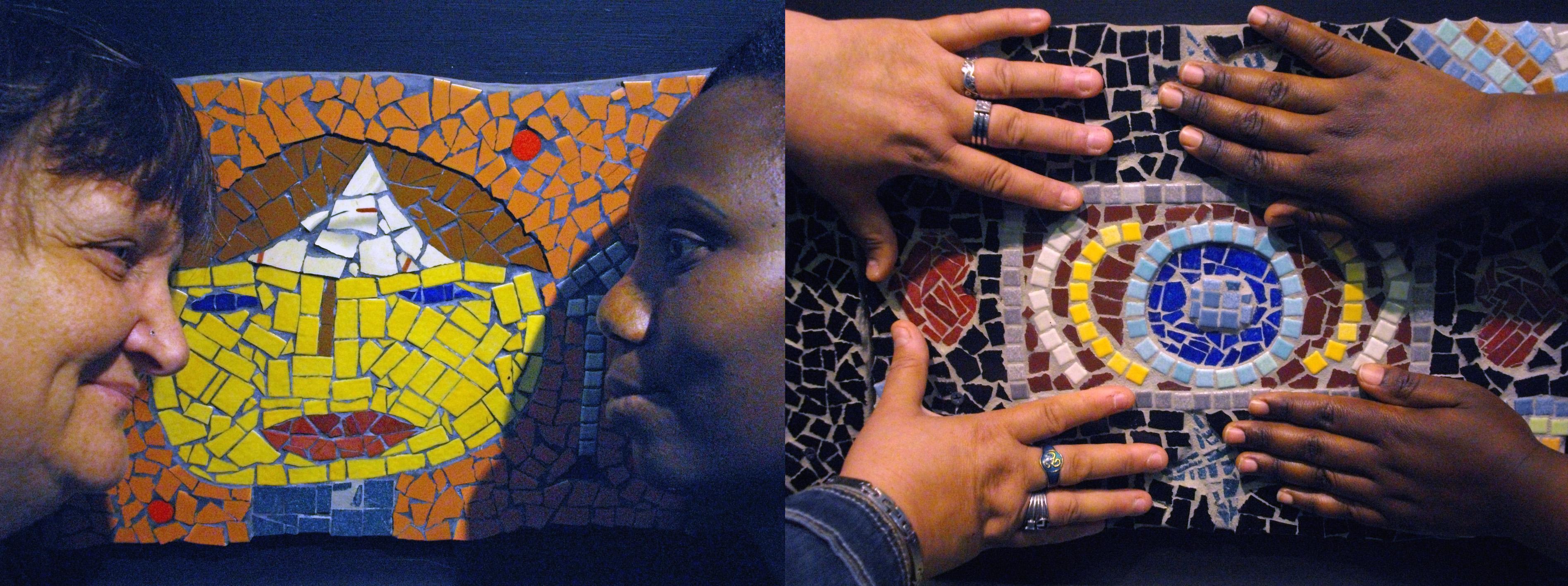 Tous égaux, noirs et blancs, avec les couleurs de nos mosaïques(p.43)