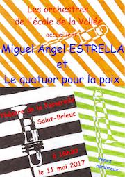 """Miguel Angel Estrella et son Quatuor pour la Paixjouent avec """"l'orchestre à l'école"""" de Saint Brieuc (p.10)"""