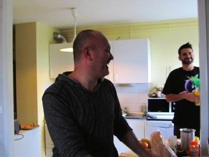 George et Casey, lors de leur passage à Redon en octobre 2013.