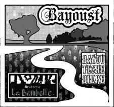 L'étiquette de la Bayoust, bière commune entre Redon et Arnaudville.