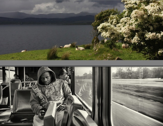 Images de deux des quatre photographes : Myriam Jegat (en h.) et Franck McMains