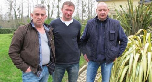 De g.à d. Stéphane Rouxel, Laurent Guillou et Pascal Brigant