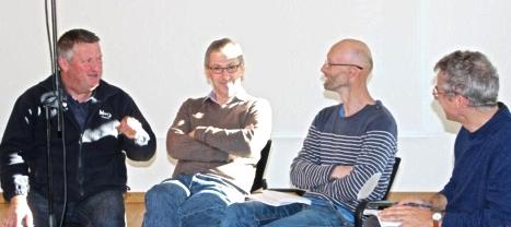 De gauche à droite : Jean-François Bertin et Jacques Cario (coprésidents de TEZEA), Guillaume Bonneau (codirecteur) et Denis Prost (responsable opérationnel).