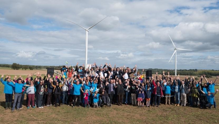 Les citoyens des pays de Vilaine ont créé trois parcs éoliens - ici, Avessac en Loire-Atlantique.