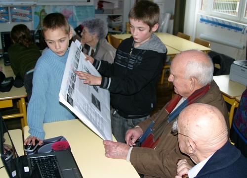 Reportage-rencontre entre scolaires et anciens