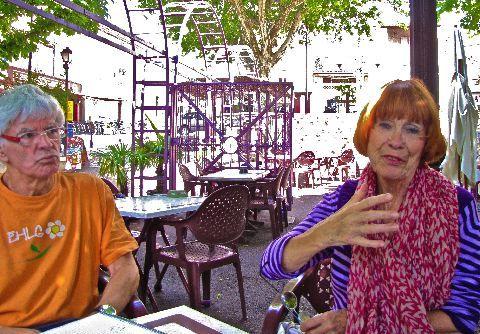 à la terrasse les Maronniers, Françoise et Bernard Lecat