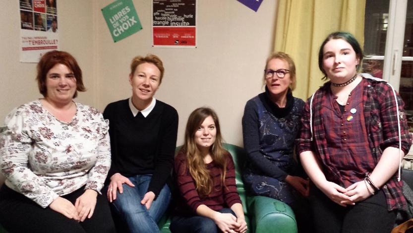 Typhaine, Soazig, Amandine, Véronique et Gwenaël