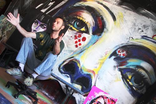 Heol dans son Atelier - Photo Marvin Michielini