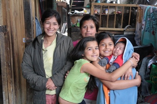 Esperanza et sa famille