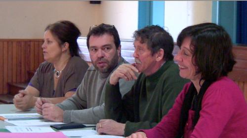 Martine Kerlaouezo et 3 membres du bureau