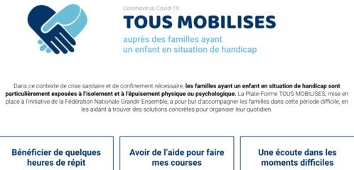 « Tous Mobilisés » auprès des familles ayant un enfant en situation de handicap