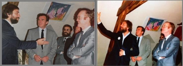 Lors de l'inauguration de la Maison en 1982