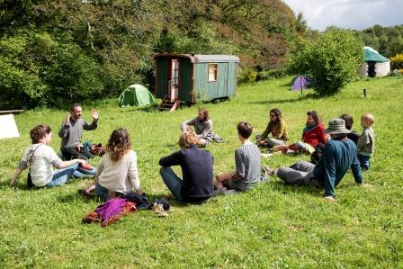Les rencontres de l'Eco domaine Le Bois du Barde (photo : Eric Legret).