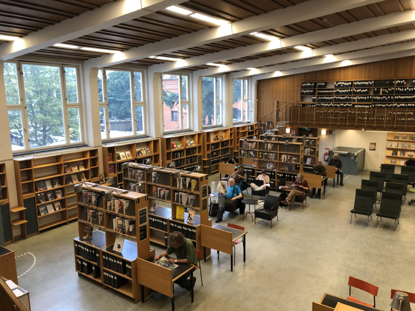 La Bibliothèque internationale était aussi un lieu incontournable pour consulter la presse locale, suédoise et internationale.