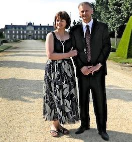 Maria et Nicolae le jour de leur mariage en Bretagne