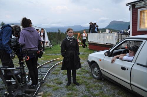 """Amanda, sur le tournage d'un de ses courts métrages  """"This means forever""""                                        (cliquez sur l'image pour le regarder)"""