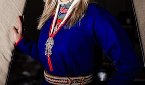 Kind of traditional Kolt from South Saami - Detail from photo : John Erling Utsi