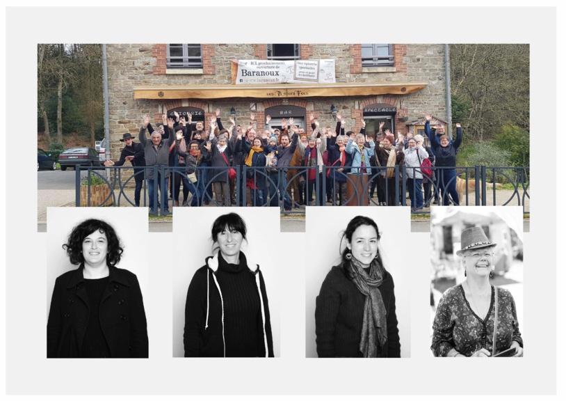 Chloé, Flavie, Margot, Martine et les sociétaires du Baranoux