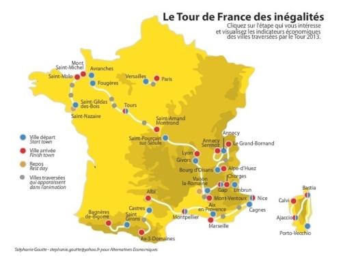Suivez le Tour de France des Inégalités