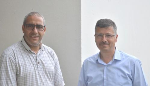 Mustafa Arslan Président du Conseil départemental du culte musulman d'Ille et Vilaine, à droite, et  Abdelatif Ouali , trésorier.
