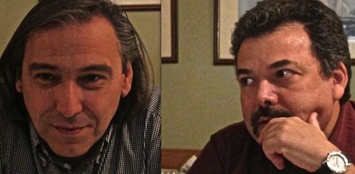 De g. à d. Giorgos Gritzas et Giorgos Aggelopoulos