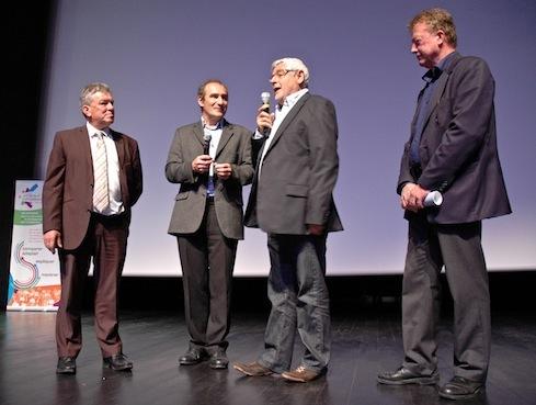 """Les quatre directeurs fondateurs de """"Différent et Compétent"""". De gauche à droite : René Gendrot, Christian Guitton, Gérard Brière et Roland Louët."""