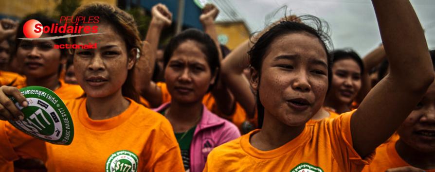 Peuples Solidaires : appel à soutenir les ouvrières du Cambodge