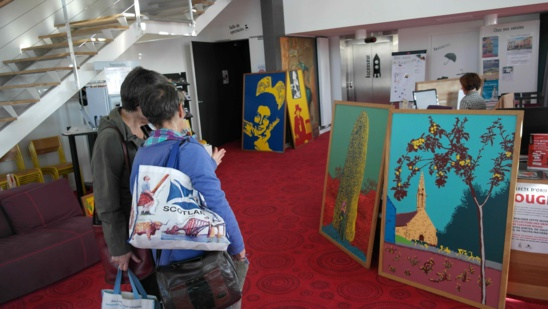 Les peintures Pop Art, à la Andy Wharol , œuvres des habitants de Nizon( 29)