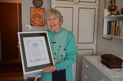 """La distinction suédoise de """"Senior de l'année"""" lui a été décernée en 2015."""