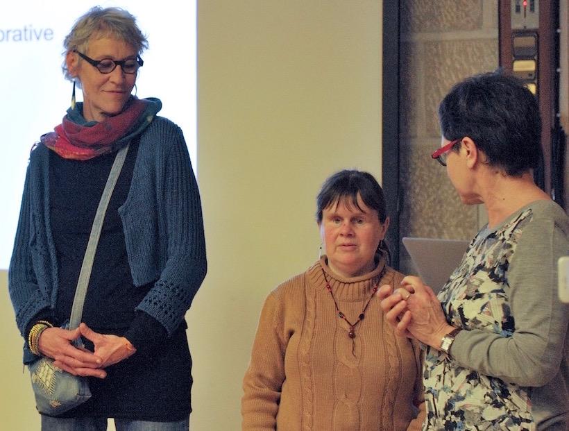 """Claire, Magali et Marie Annick parlent du projet """"Croque notes"""""""