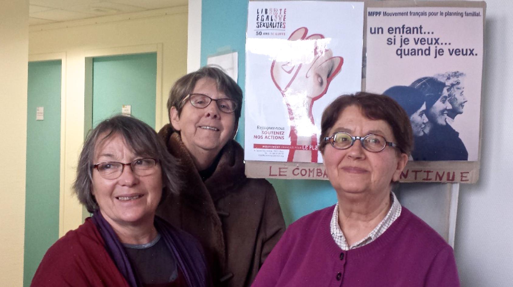 De gauche à droite, Chantal, Anna et Marie-France