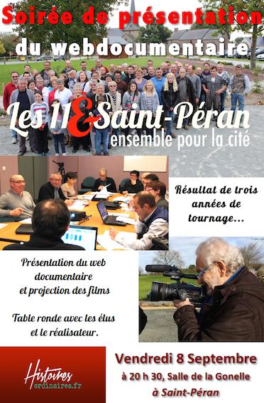 Sortie du webdocumentaire « Les 11&Saint-Péran »