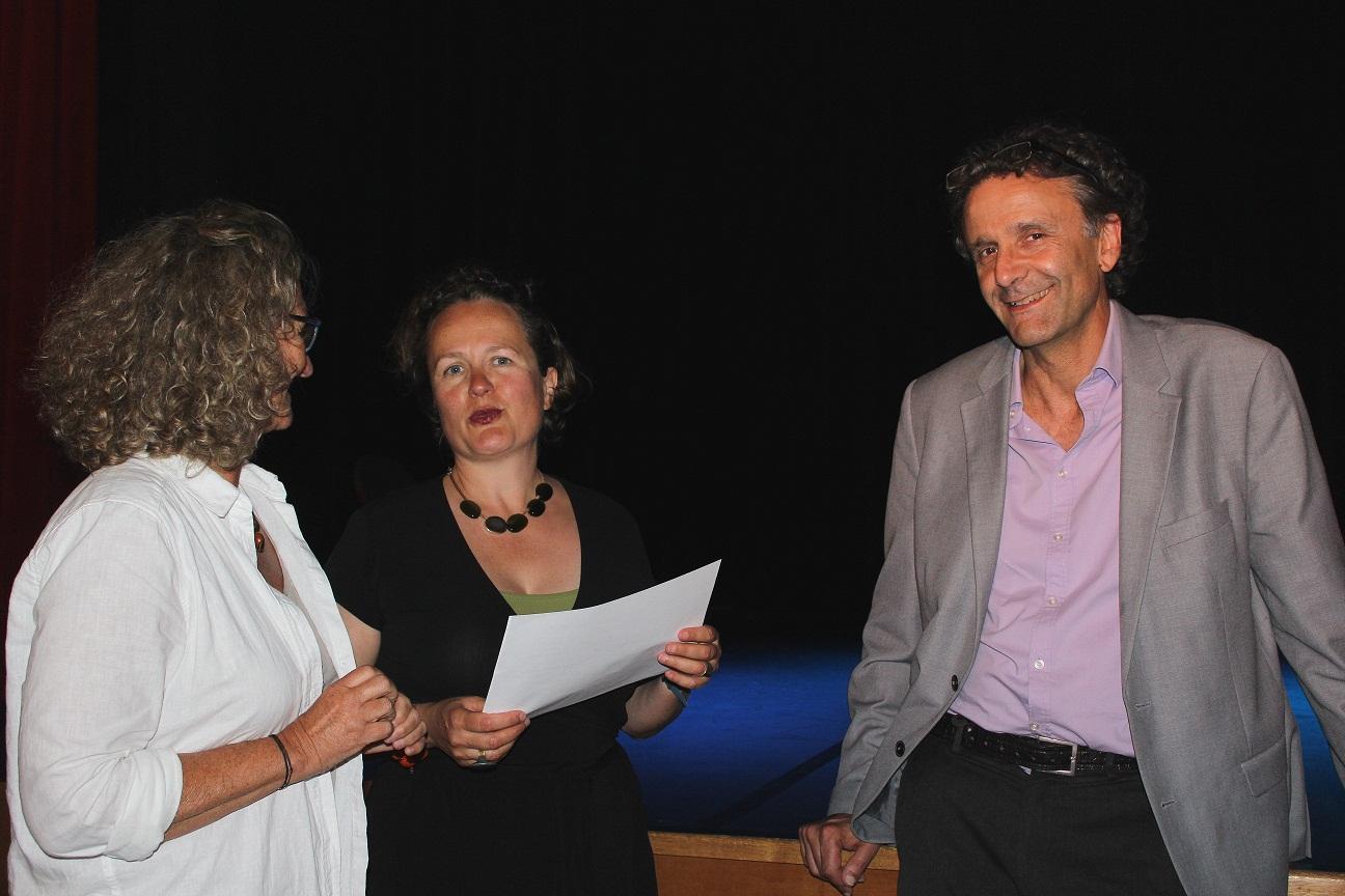 Michel Podolak, invité de l'Aresat Bretagne à Pontivy en juin 2017 - Photo : Tugdual Ruellan.