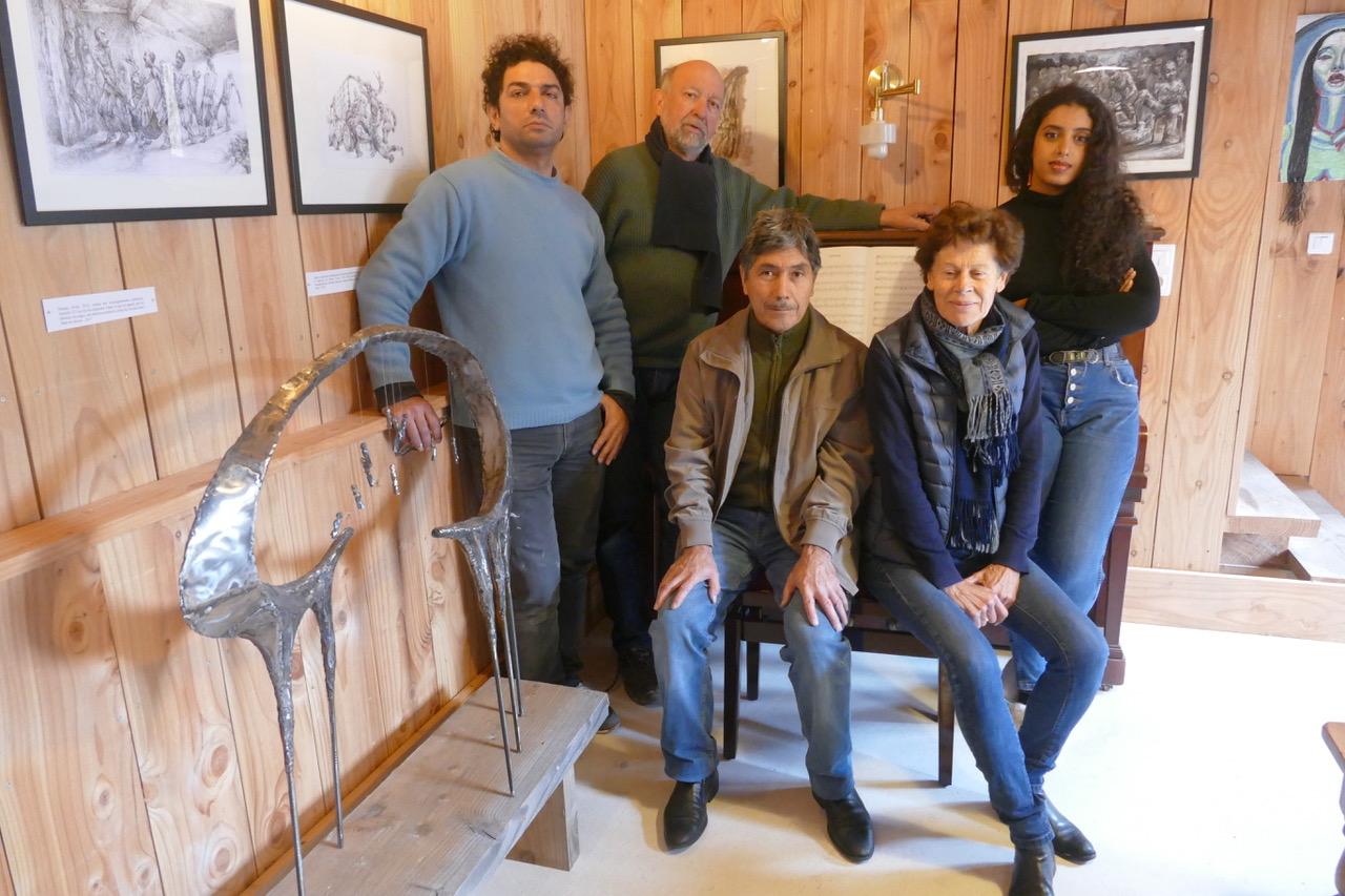 De gauche à droite Najah Albukaï, Daniel Noël, Meredov Gurbandgeldi, Marie-Noëlle Noël et Alham Jarban