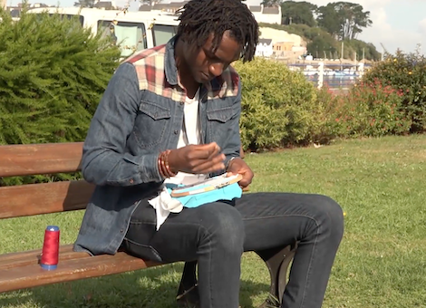 Film : en tableaux de broderie, le voyage héroïque d'un migrant