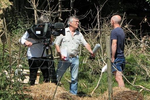 Daniel Juif en tournage à Gouezou Vras en 2020 (photo Le Moulin à images).
