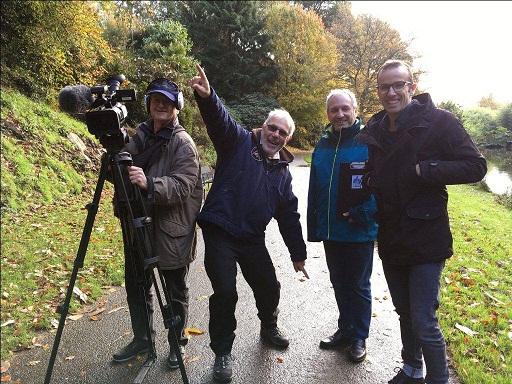 Les bénévoles du Moulin à images en tournage (photo le Moulin à images).