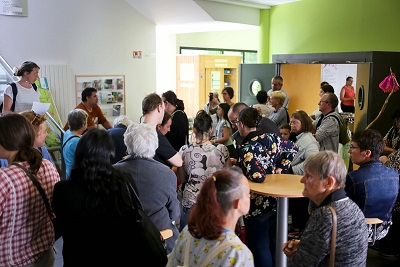Inauguration du Frigotroc au centre social de Villejean en 2017 (photo Bug).