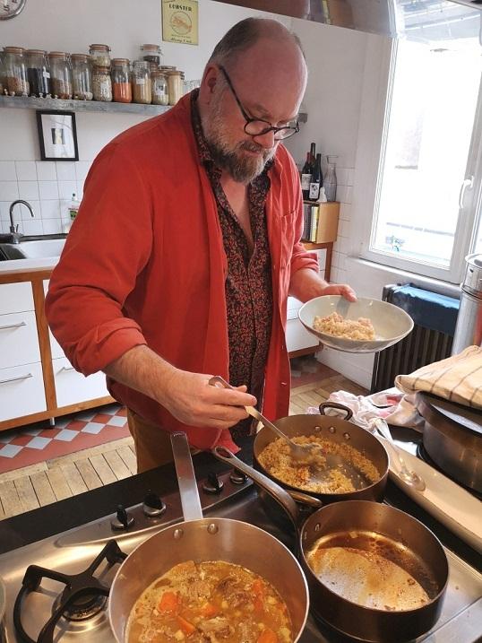 Xavier Hamon a créé l'Université des sciences et des pratiques gastronomiques en Bretagne (photo Tugdual Ruellan).