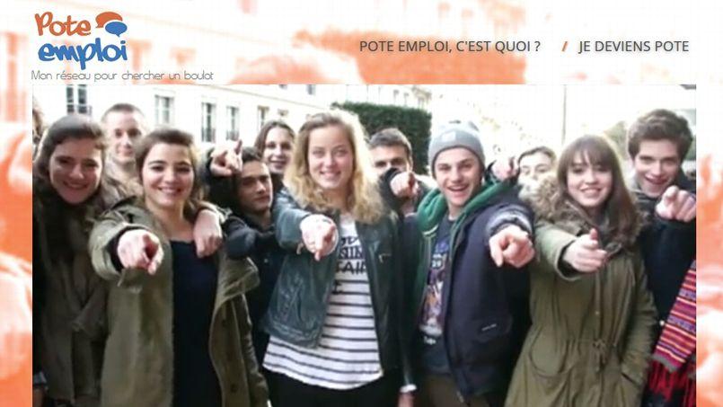 """Sur """"Pote emploi.fr"""", des jeunes partagent leurs réseaux"""