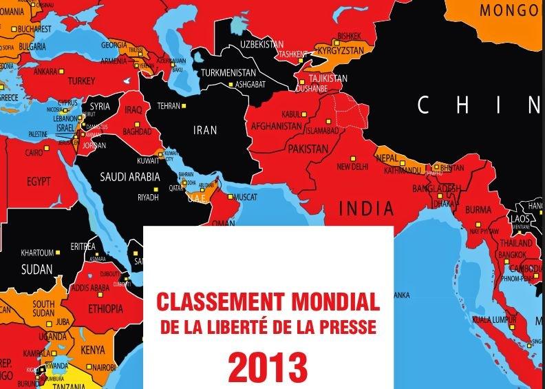 Le classement 2013 de la liberté de la presse
