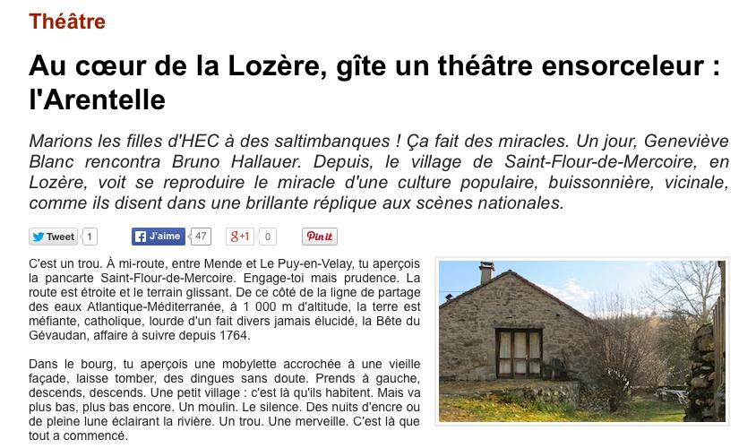 Dans le village de Lozère, vit toujours le miracle de l'Arentelle