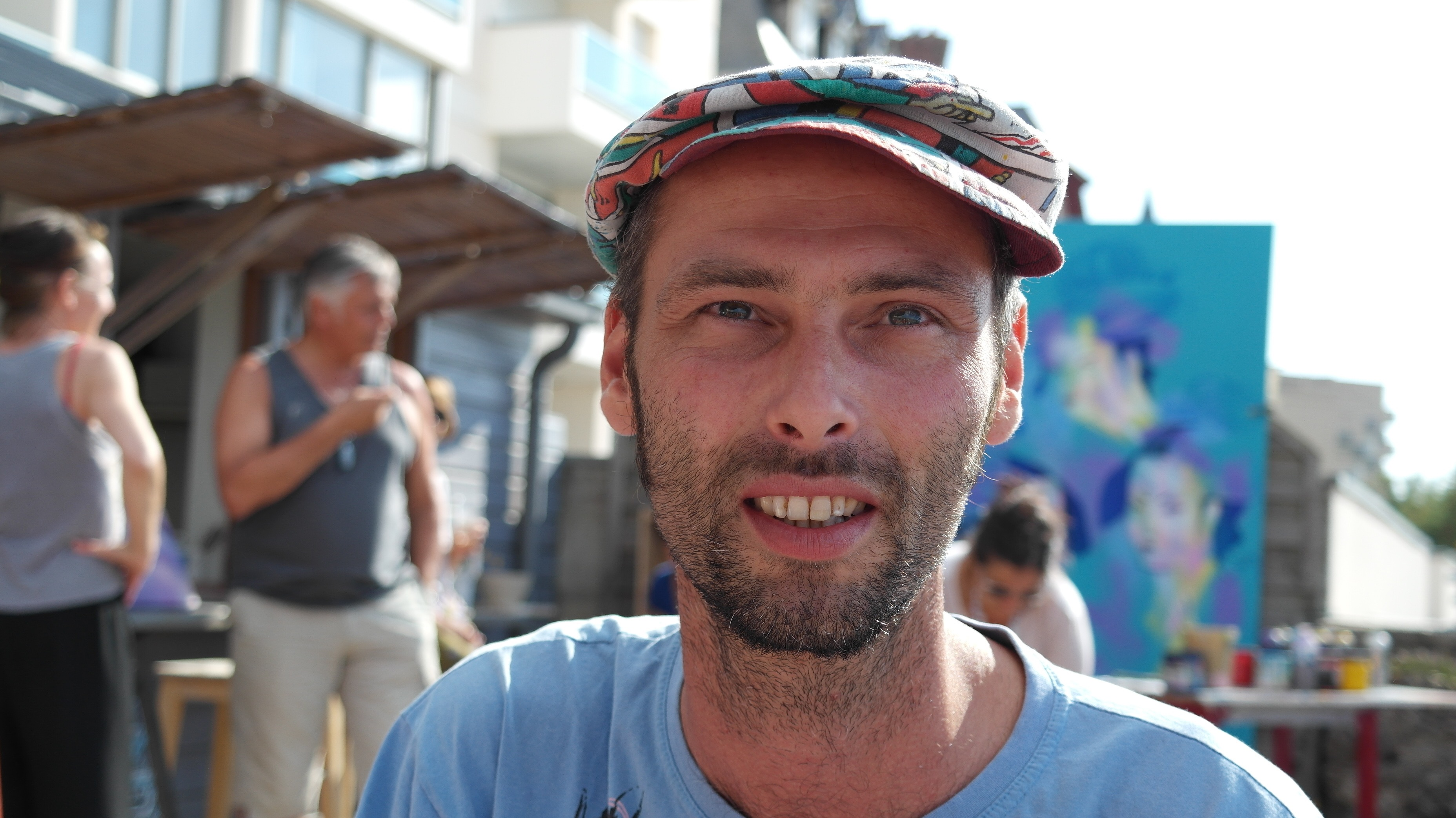 Héol en interview à la terrasse de l'hôtel des Charmette à Saint Malo, le 8 Août 2015