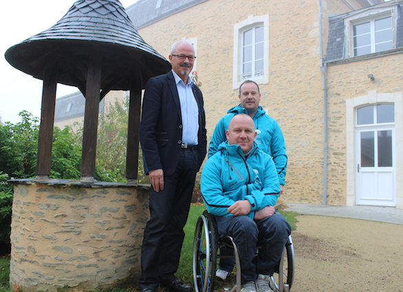 Photo (de g. à d) : Paul Melot, Ludovic Robidas  et Michaël Rousseau.