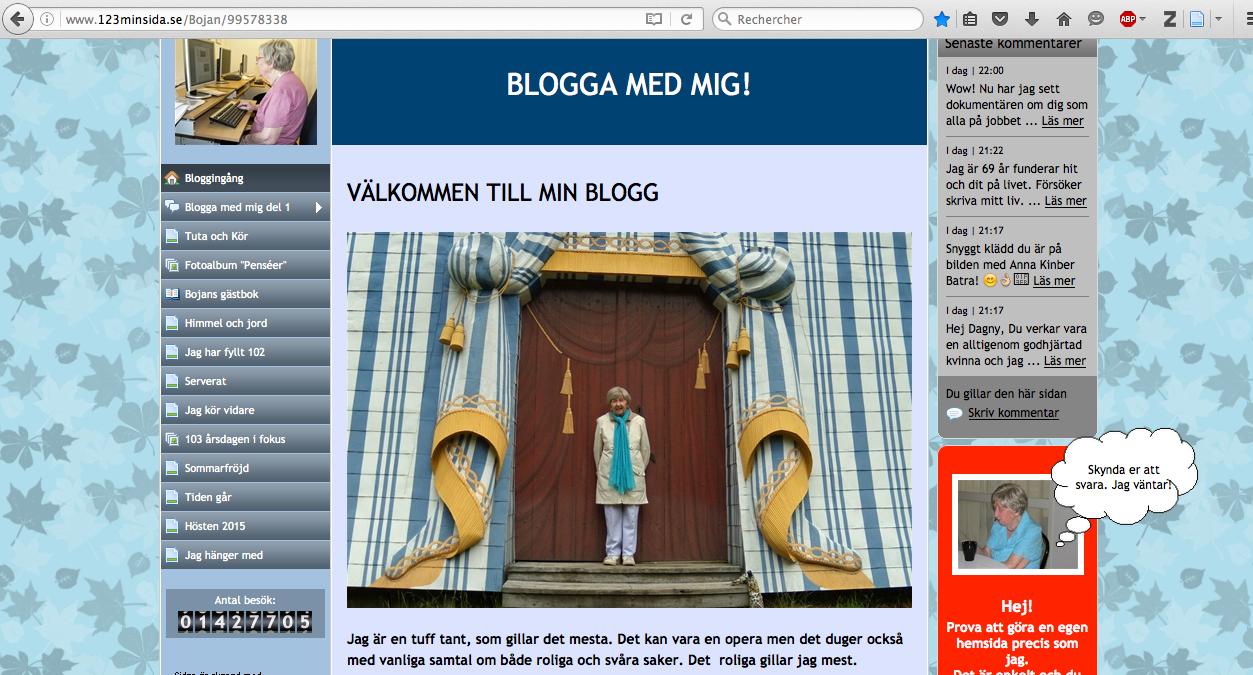 Capture d'écran du blog de Dagny.