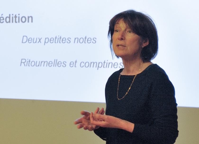 """Agnès Blaire porteuse du projet d'aide à l'édition """"Ritournelles et comptines"""""""