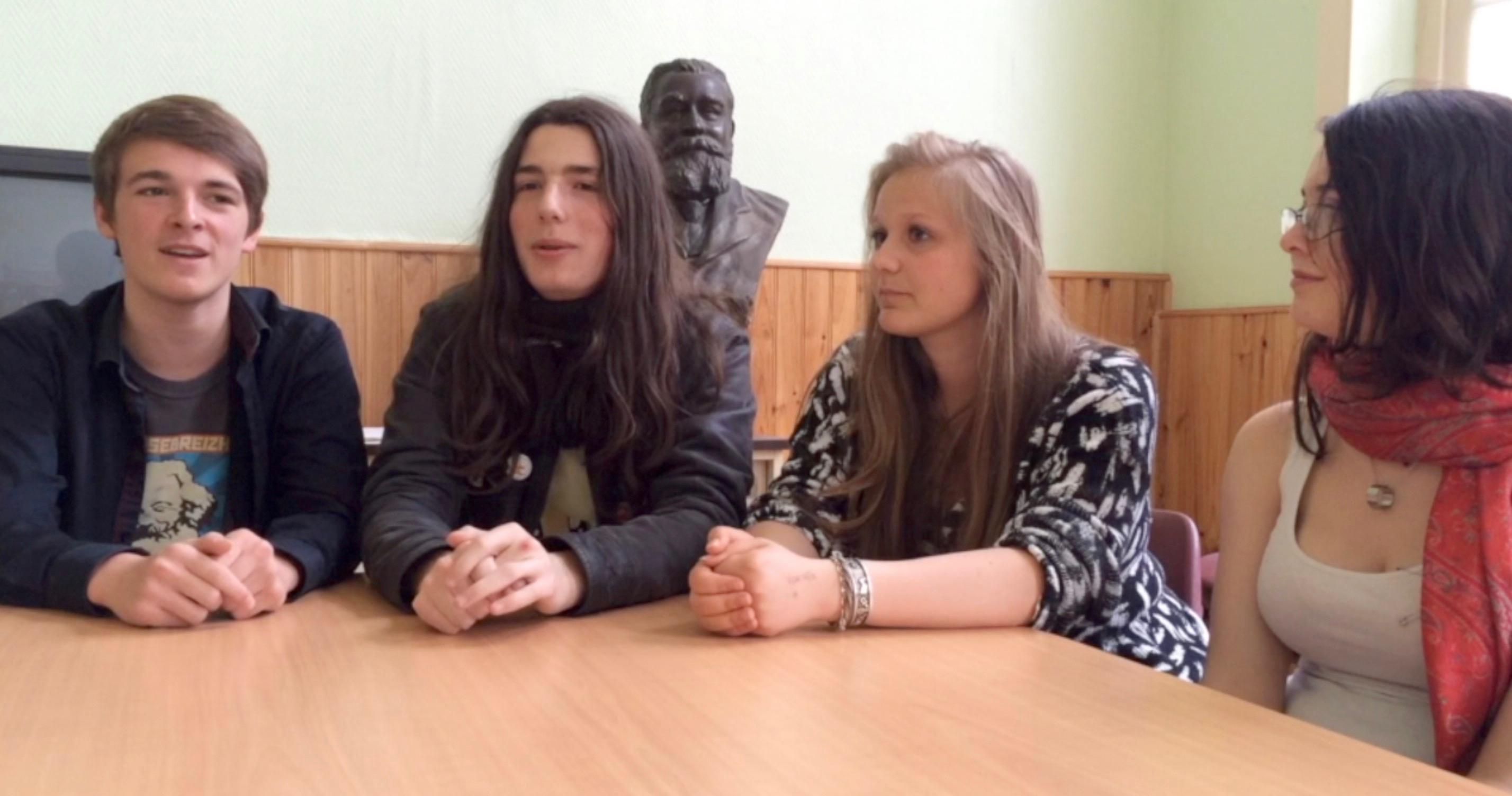 Cohen, Jarod, Camille et Myriam, de l'AG jeunes de Saint-Malo