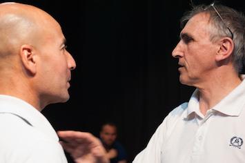 Malek (à g.) et Jean-Luc Bansard