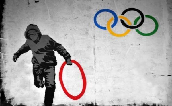 Les J O sur les murs de Londres...